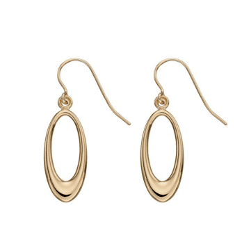 Elements Gold 9ct Yellow Gold Open Oval Earrings