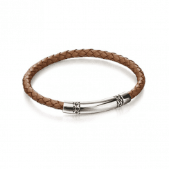 Fred Bennett chain detail leather bracelet