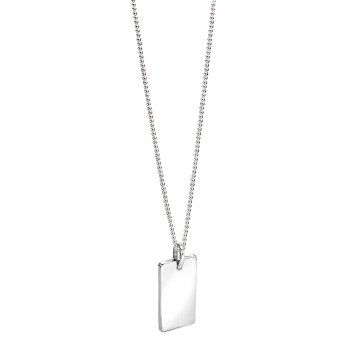 Fred Bennett Evolved Classics Sterling Silver Tag Necklace