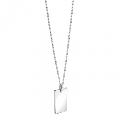 Evolved Classics Sterling Silver Tag Necklace