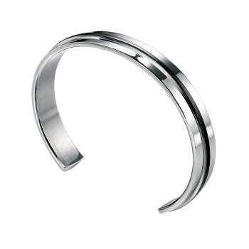 Fred Bennett Utilitarian Stainless Steel Black PVD Bangle