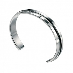 Utilitarian Stainless Steel Black PVD Bangle