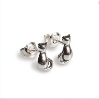 Henryka Cat stud Sterling Silver Earrings
