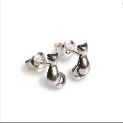 Henryka Cat stud Sterling Silver Earrings