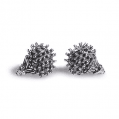 Henryka Tiny Hedgehog studs in Sterling Silver