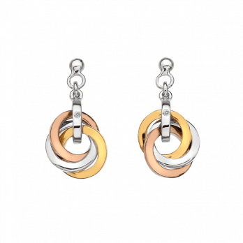 Hot Diamonds Calm earrings -Rose & Yellow gold accents