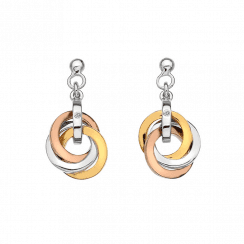 Calm earrings -Rose & Yellow gold accents