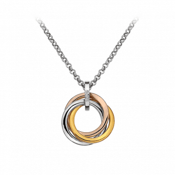 Hot Diamonds Calm pendant with Rose Gold & Yellow Gold accents