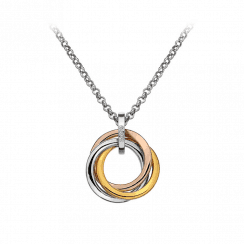 Calm pendant with Rose Gold & Yellow Gold accents