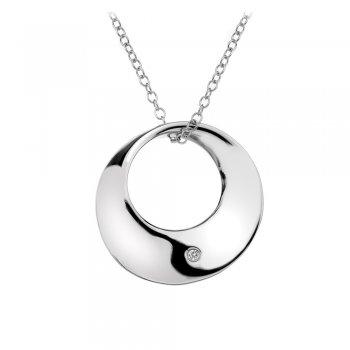 Hot Diamonds Entwine Eternal Circle Silver Pendant