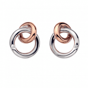 Hot Diamonds Eternal Earrings Rose Gold plate accents
