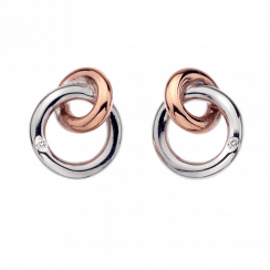 Eternal Earrings Rose Gold plate accents