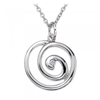 Hot Diamonds Eternity Spiral Silver Pendant