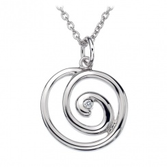 Eternity Spiral Silver Pendant