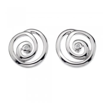 Hot Diamonds Eternity Spiral Stud Silver Earrings