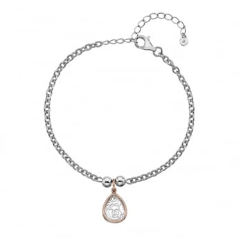 Hot Diamonds Faith Teardrop Bracelet - Rose Gold Plate accents