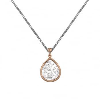 Hot Diamonds Faith Teardrop Pendant - Rose Gold Plated accents