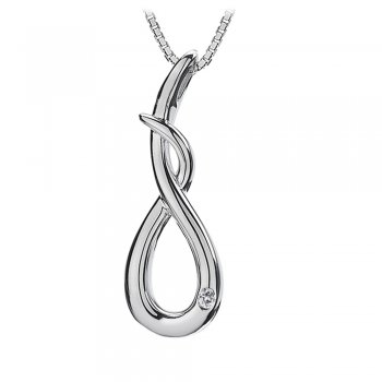 Hot Diamonds Go With The Flow Curl Silver Pendant