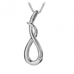 Go With The Flow Curl Silver Pendant
