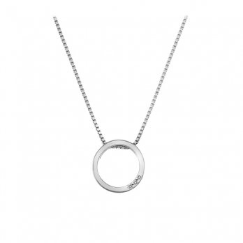 Hot Diamonds Halo Open Circle Silver Pendant