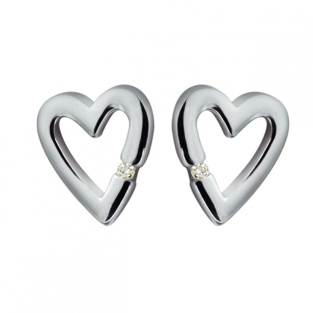 6acf99729 Hot Diamonds Just Add Love Head Over Heels Silver Heart Earrings. code :0642134