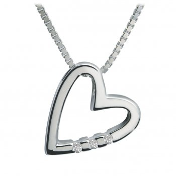 Hot Diamonds Just Add Love Head Over Heels Silver Pendant