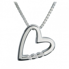 Just Add Love Head Over Heels Silver Pendant