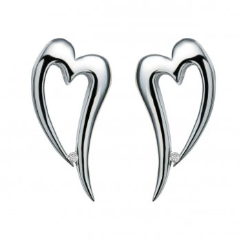 Hot Diamonds Just Add Love Lingering Silver Heart Earrings