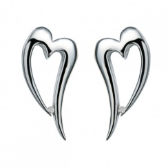 Just Add Love Lingering Silver Heart Earrings
