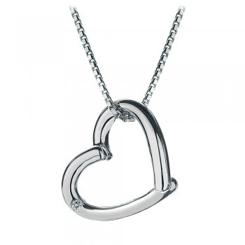 Hot Diamonds Just Add Love Silver Heart Pendant