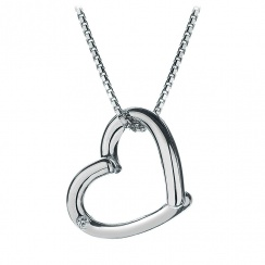 Just Add Love Silver Heart Pendant
