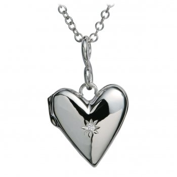 Hot Diamonds Just Add Love Spontaneous Silver Locket Pendant