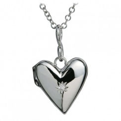 Just Add Love Spontaneous Silver Locket Pendant