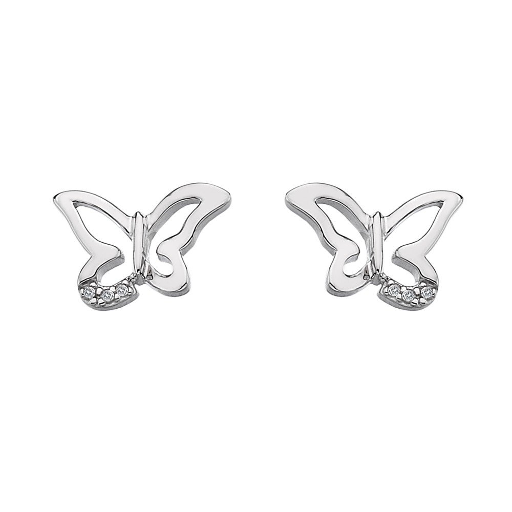 fdfe0b2f9 Hot Diamonds Micro Flutter Butterfly Stud Silver Earrings. code:0642156