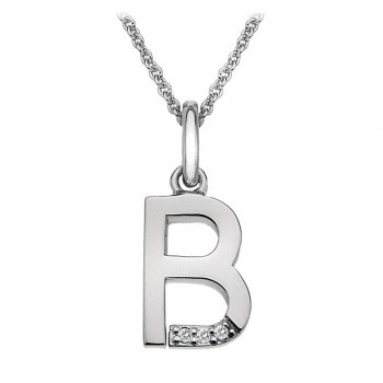 Hot Diamonds Micro Letter B Silver Pendant