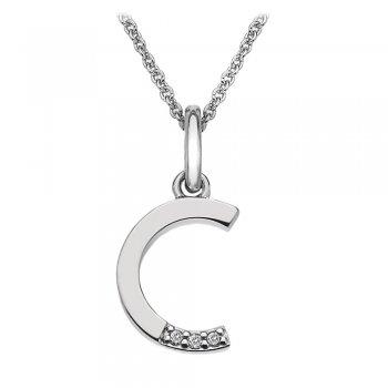 Hot Diamonds Micro Letter C Silver Pendant