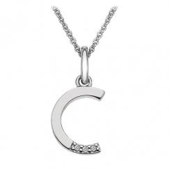 Micro Letter C Silver Pendant