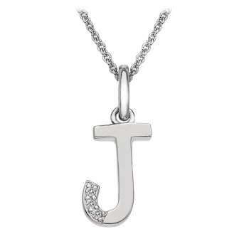 Hot Diamonds Micro Letter J Silver Pendant