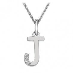 Micro Letter J Silver Pendant