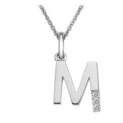 Micro Letter M Silver Pendant