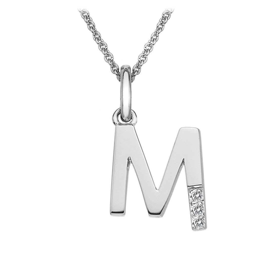 Hot Diamonds Micro Letter M Silver Pendant