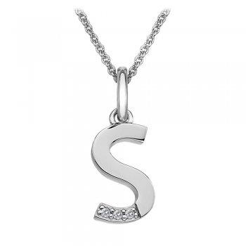 Hot Diamonds Micro Letter S Silver Pendant