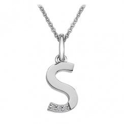 Micro Letter S Silver Pendant