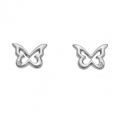 Paradise Butterfly Silver Stud Earrings
