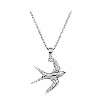 Hot Diamonds Paradise Swallow Silver Pendant