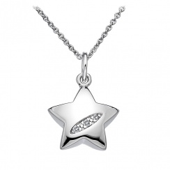 Shooting Stars Silver Heart Pendant