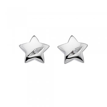 Hot Diamonds Shooting Stars Silver Star Earrings