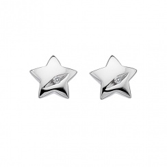 Shooting Stars Silver Star Earrings