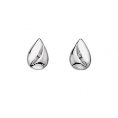 Shooting Stars Silver Teardrop Earrings