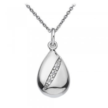 Hot Diamonds Shooting Stars Silver Teardrop Pendant